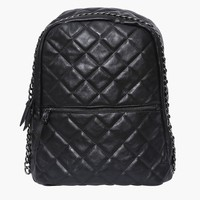 Quad Faux Leather Backpack