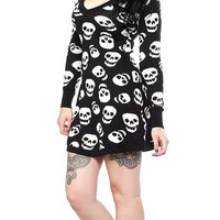 Lust For Skulls Sweater Dress | Blame Betty