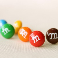 M & M Ear Studs Set of 6 by CoralinesAccessories on Etsy