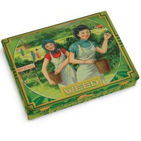 Weed Tin Pocket Box - Replica of a 1920's Cigarette Case - Whimsical & Unique Gift Ideas for the Coolest Gift Givers