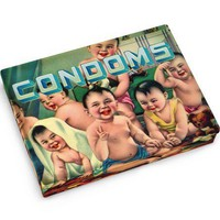 Condoms Tin Pocket Box - Replica of a 1920's Cigarette Case - Whimsical & Unique Gift Ideas for the Coolest Gift Givers