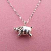 Piglet Necklace by Metal Sugar - Handmade & Customizable  - Whimsical & Unique Gift Ideas for the Coolest Gift Givers