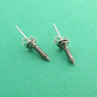 Sterling Silver Screw You Studs Handmade by Metal Sugar - Whimsical & Unique Gift Ideas for the Coolest Gift Givers