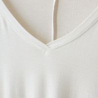 Perfect Drape 3/4 Sleeve Tunic, Ivory (Buttery 96% Modal)