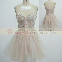 online shop DL82350 Champagne Sweetheart crystal stone puffy cocktail dresses uk, View cocktail dresses, CHOIYES party dress Product Details from Chaozhou Choiyes Evening Dress Co., Ltd. on Alibaba.com