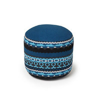 Henry Pouffe in Treecloud Blue