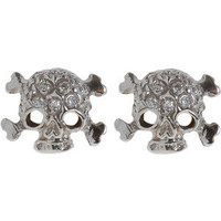 Ileana Makri Skull Stud Earrings - Polyvore