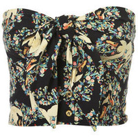 Swan Print Tie Bandeau - Tops  - Apparel