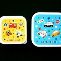 cute car snack size bento boxes