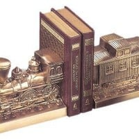 Brass Bookends | Train and Caboose