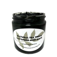 Lavender and Tea Tree Mud Mask, Clay Mask with Activated Charcoal, Gift under 15