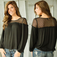 One Last Chance Top (Black)