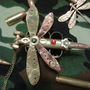 steampunk bullet dragonfly necklace