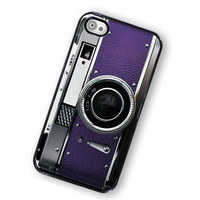iPhone Case Retro Princess Purple Camera Hard Phone Case / Fits Iphone 4, 4S