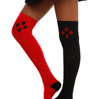 DC Comics Harley Quinn Over-The-Knee Socks