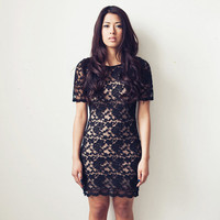 Lace T Dress (XS) Black