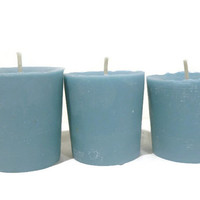 3 Summer Breeze soy votive candles, free USA shipping!