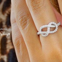 Infinity Knot Diamond Ring The Original
