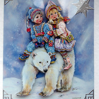 Christmas Card - Happy Christmas Hand-Crafted 3D Decoupage Card - Happy Christmas (1798)