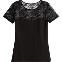 Cotton Top with Lace - from H&M