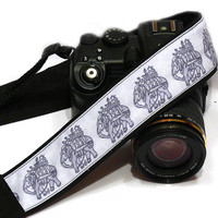 Elephants Camera Strap, dSLR Camera Strap, SLR, Nikon, Canon Camera Strap, Men, Women Accessories