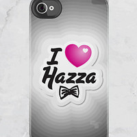 iPhone 4S/4 - I Heart Hazza - One Direction - (iPhone Case iPhone 4 Case, iPhone 4 cover, Hard Fitted Case iPhone 4S, Apple iPhone 4 Case)