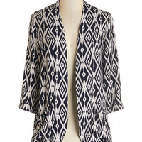 ModCloth Mid-length 3 Ikat Believe It Cardigan