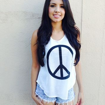Peace Sign Tank from shopoceansoul