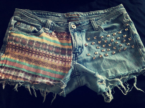 Vintage F21 Tribal Native American Shorts