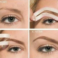 Set of 4 Shapes Eye Brows / Eyebrows Shaping Stencils Grooming Kit by Cheeky:Amazon:Beauty