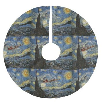 Santa Starry Night Christmas Tree Skirt