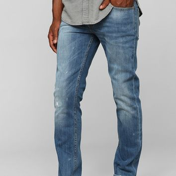 Levi's 511 Damaged Stone-Bleach Slim-Fit Jean- Vintage Denim Medium