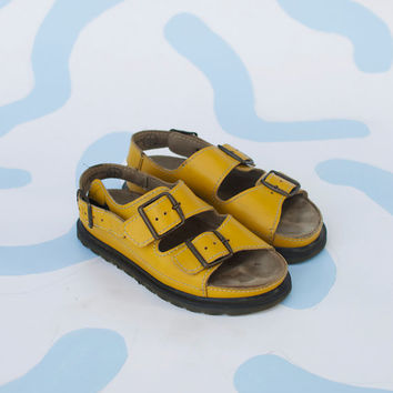 Vintage Yellow Dr Martens Air Cushion Sole Sandals - US size 7