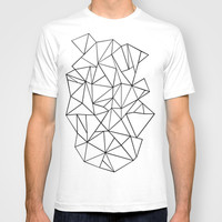 Abstract Outline Black on White T-shirt by Project M   Society6