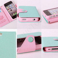 iPhone Wallet, iPhone 4 Case, iPhone 5 Case, iPhone 4S Case, iPhone 5S Case, iPhone 4 Wallet, iPhone 5 Wallet, Pink Infinity Anchor Wallet