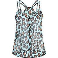FULL TILT Animal Womens Chiffon Tank 198781246 | Tanks &amp; Camis | Tillys.com