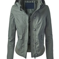 Lock and Love Women's Casual Bomber Jacket