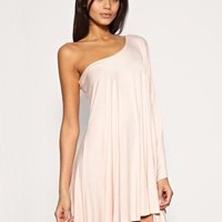 Lipsy | Lipsy Dress Asymmetric Draped Jersey Dress at ASOS