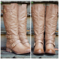 Castleton Pines Camel Tall Riding Boots