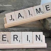 Personalized Scrabble Desk Sign - 3-5 Letters