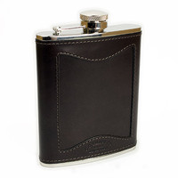 Blackbird - Filson - Bridle Leather and Stainless Steel Hip Flask