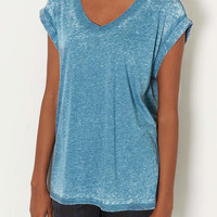 V Neck Burnout Tee