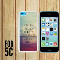Beach Quote Custom made Case/Cover/skin FOR Apple iPhone 5c - White - Rubber Case ( Ship From CA)