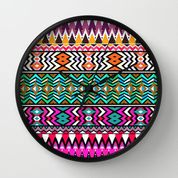 Mix #106 Wall Clock by Ornaart | Society6