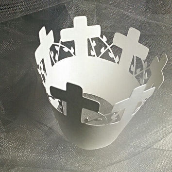 Cross Cupcake Wrapper, Communions, Baptism, Confirmations, Weddings
