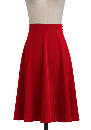 Vacation Day Skirt in Red | Mod Retro Vintage Skirts | ModCloth.com