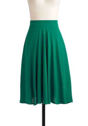 Green There, Done That Skirt | Mod Retro Vintage Skirts | ModCloth.com