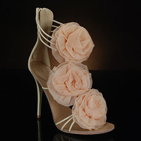 GIUSEPPE ZANOTTI E10131 Wedding Shoes and E10131 Dyeable Bridal Shoes IVORY