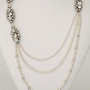 Haute Bride Necklaces, Long Pearl &amp; Brooch Necklace, Style N304