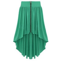 Bqueen Asymmetrical Maxi Skirt Green BY147G